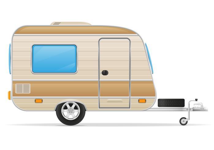 aanhangwagen caravan vectorillustratie vector