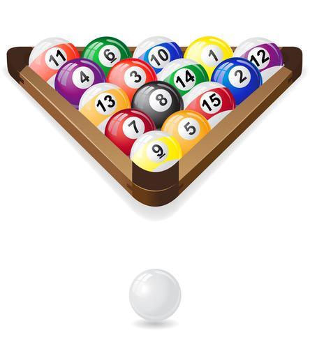 Biljartballen vector illustratie