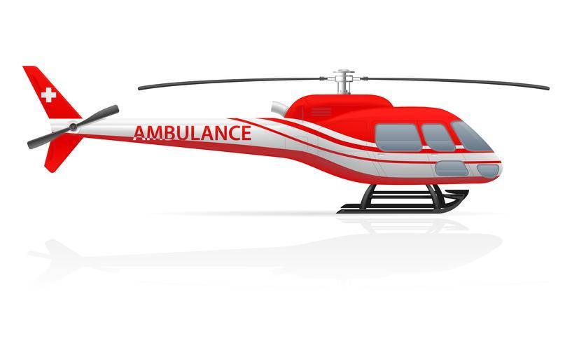 ambulance helikopter vectorillustratie vector