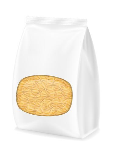 pasta in verpakking vectorillustratie vector
