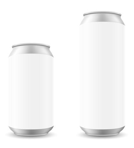 blikje bier sjabloon blanck vector illustratie