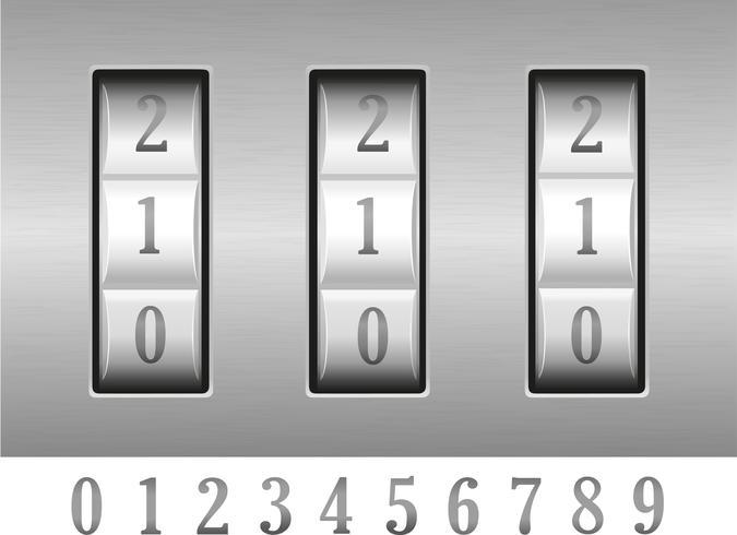 combinatie slot vectorillustratie vector