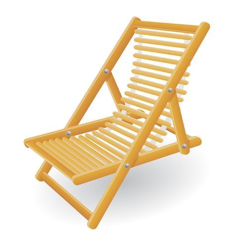 strandstoel vector illustratie
