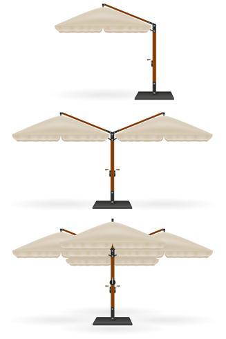 grote parasol voor bars en cafés op het terras of de strand vectorillustratie vector
