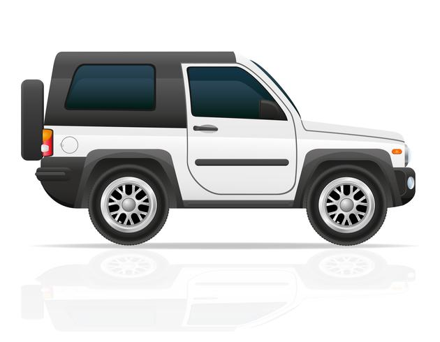 auto jeep off road suv vector illustratie