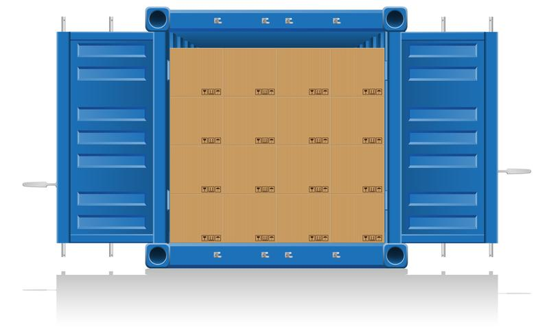 concept vracht levering vectorillustratie vector