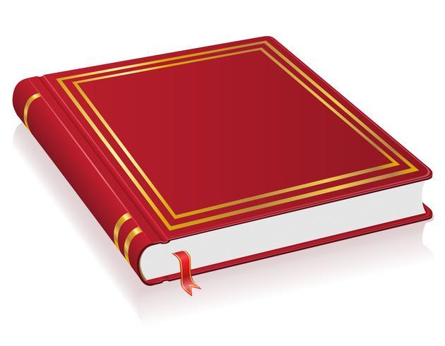 rood boek met bladwijzer vectorillustratie vector