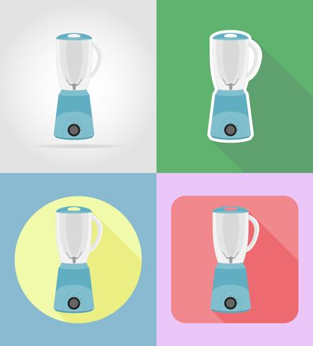mixer huishoudapparaten voor keuken plat pictogrammen vector illustratie