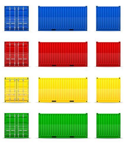 vrachtcontainer vectorillustratie vector