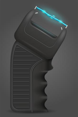 verdoven pistool wapen zelfverdediging vectorillustratie vector