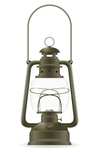 kerosine lamp oude retro vintage pictogram stock vector illustratie