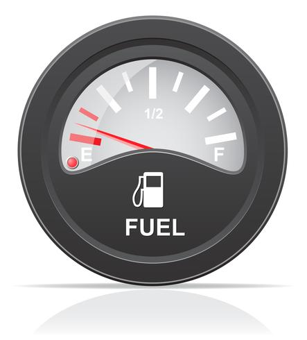 brandstofniveau indicator vectorillustratie vector
