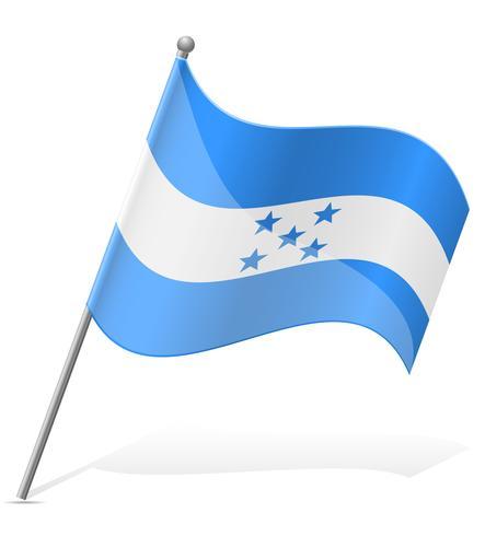 vlag van Honduras vectorillustratie vector