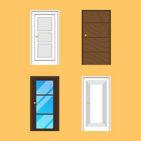 Flat Door Vector-collectie vector