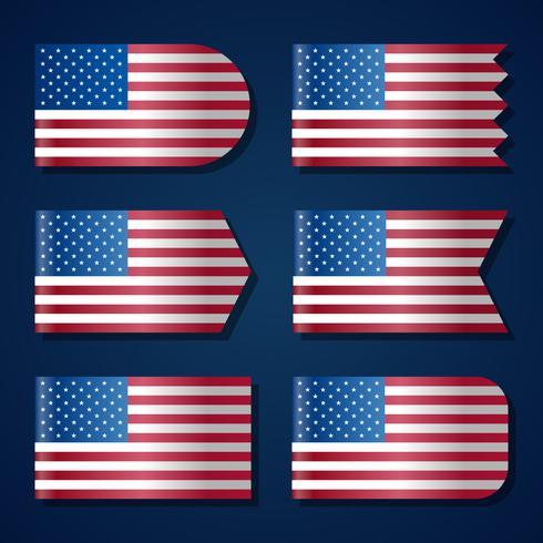 Verenigde Staten vlag sjabloon vector