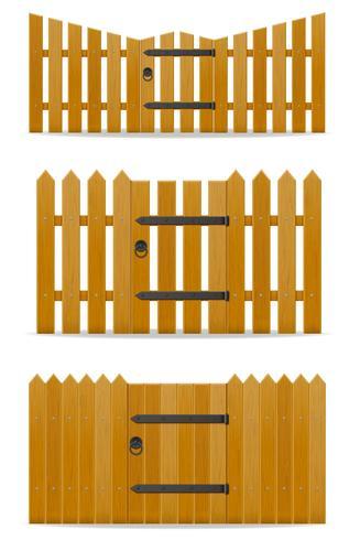 houten hek met loopdeur vectorillustratie vector