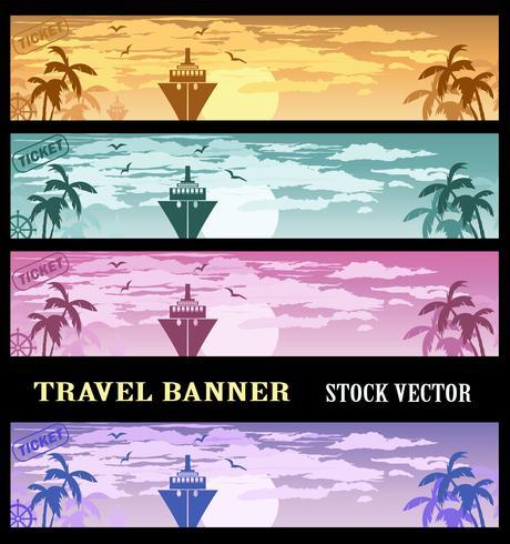 Kleurrijke banners vector
