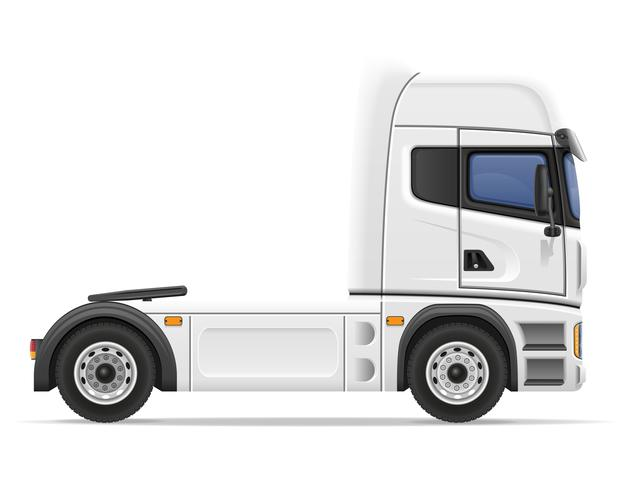 vrachtwagen oplegger vectorillustratie vector