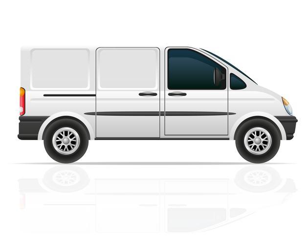 bestelwagen voor het vervoer van vracht vectorillustratie vector