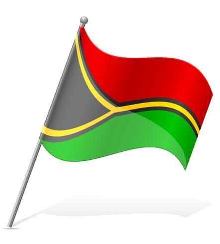 vlag van Vanuatu vectorillustratie vector