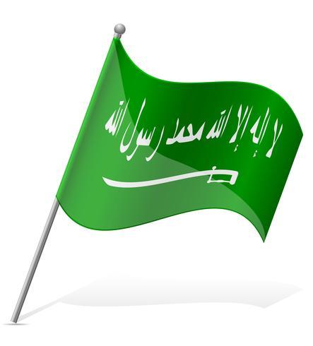 vlag van Saoedi-Arabië vector illustratie