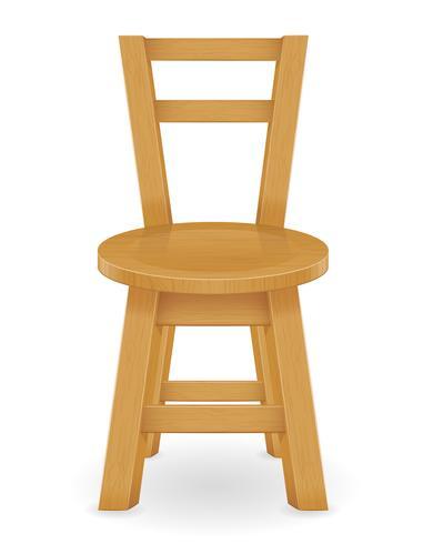 houten kruk meubels vector illustratie