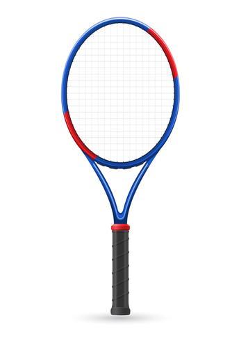 tennisracket vectorillustratie vector