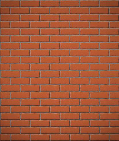 muur van rode baksteen naadloze achtergrond vector