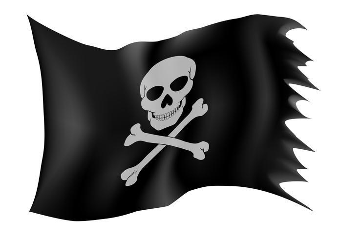 piraat vlag vector illustratie