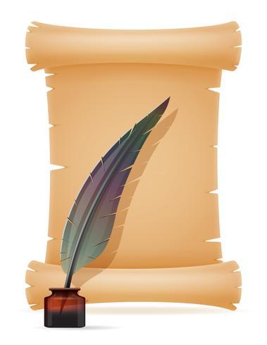 oud papier scroll vectorillustratie vector