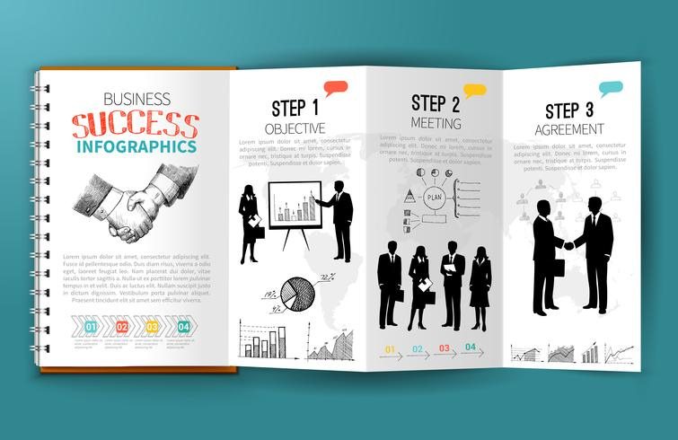 Zakelijke infographics brochure vector