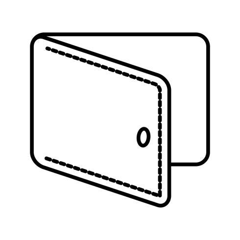 Zwarte pictogram portemonnee lijn vector