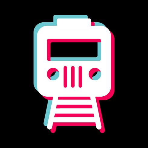 Trein pictogram ontwerp vector