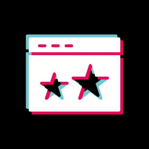 Ontwerp met sterpictogram vector