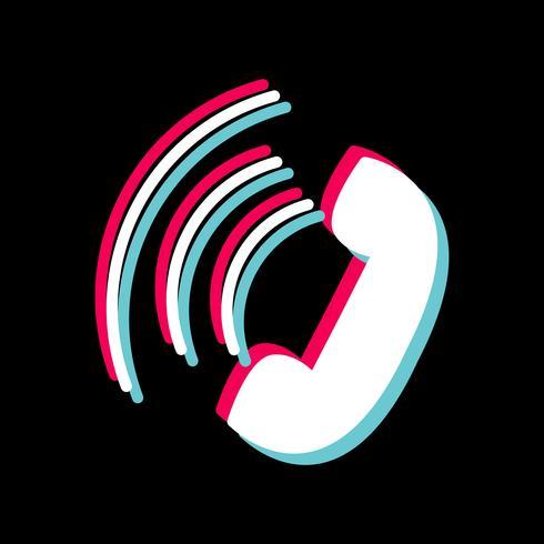 Actief oproep pictogram ontwerp vector