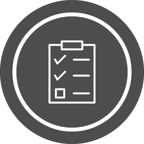 Checklist pictogram ontwerp vector
