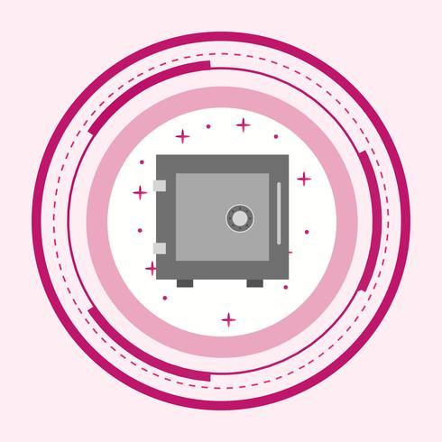 kluis pictogram ontwerp vector