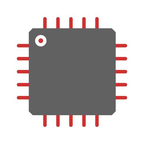 Processorsymboolontwerp vector