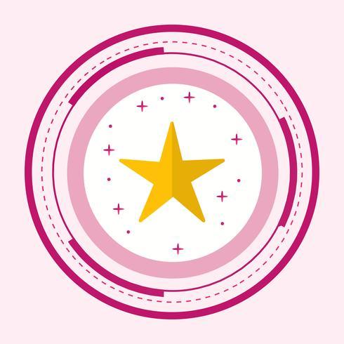 ster pictogram ontwerp vector