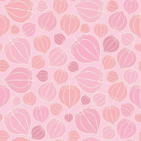 Naadloze bloemmotief. Herfst achtergrond. Bloeien ornament vector