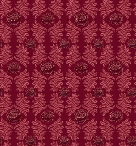 Naadloze bloemmotief. Brocade retro ornament. Bloeien verlaat achtergrond vector