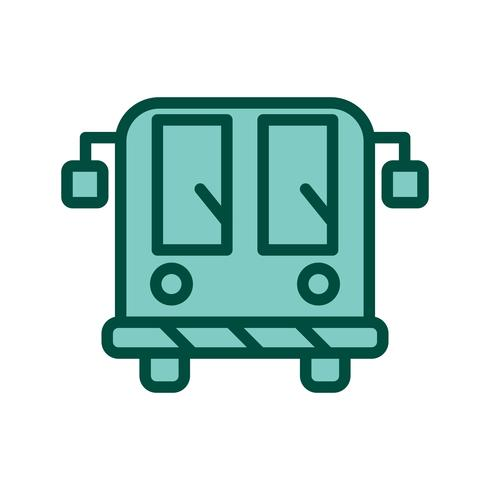 Luchthavenbus pictogram ontwerp vector