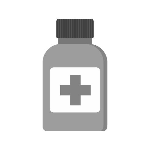 Geneeskunde fles pictogram ontwerp vector