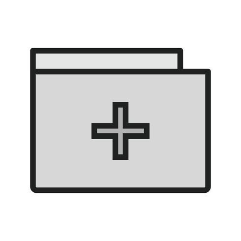 Medische map pictogram ontwerp vector
