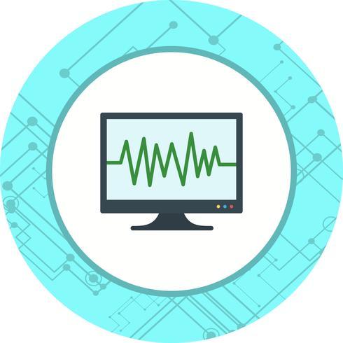 ECG-pictogramontwerp vector