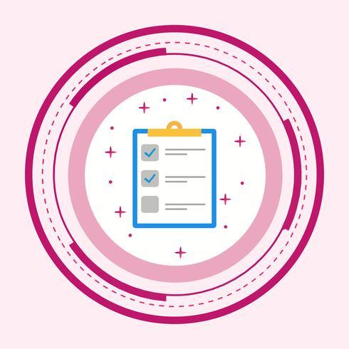 Lijst Icon Design vector