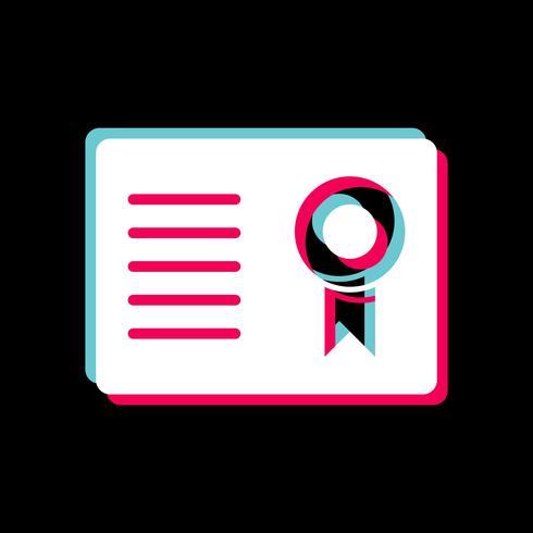 Certificaat pictogram ontwerp vector