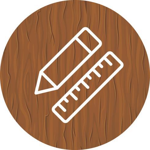Potlood en liniaal pictogram ontwerp vector