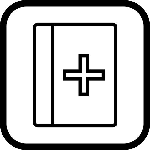 Medisch boek pictogram ontwerp vector