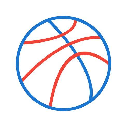 Basketbal pictogram ontwerp vector